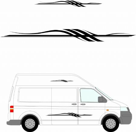 (No.270) MOTORHOME GRAPHICS STICKERS DECALS CAMPER VAN CARAVAN UNIVERSAL FITTING